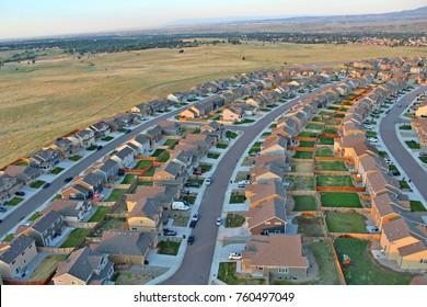 Colorado Springs areal view