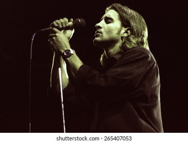 COLORADO SPRINGS, CO.	JULY 17:		Vocalist Scott Stapp of Creed performs July 17, 1998 at Sky Sox Stadium, CO. USA