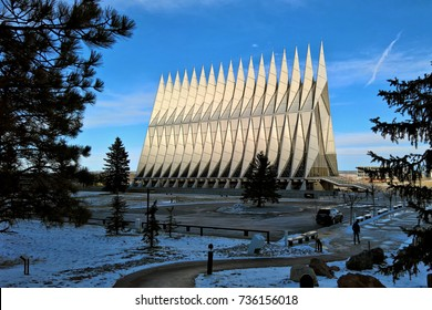 COLORADO SPRINGS, CO - DECEMBER 13, 2015: United States Air Force Academy Cadet Chapel