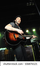 COLORADO SPRINGS, CO. USA	FEBRUARY 9:		Vocalist/Guitarist Mat Kearney of the Mat Kearney band performs in concert February 9, 2012 at the Black Sheep in Colorado Springs, CO. USA