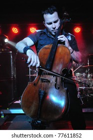 COLORADO SPRINGS, CO. USA – MAY 12:Cellist Paavo Lotjonen of the Finnish heavy metal cello band Apocalyptica performs on May 12, 2011 at the Black Sheep Theater in Colorado Springs, CO. USA