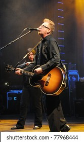 COLORADO SPRINGS, CO. USA – MAY 4:	Vocalist/Guitarist Dave King of the Alternative band Flogging Molly performs in concert May 4, 2011 at the City Auditorium in Colorado Springs, CO. USA