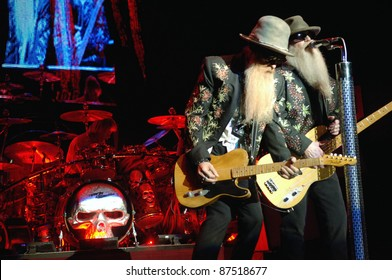 COLORADO SPRINGS, CO-OCTOBER 11: Legendary Blues Rock band ZZ Top performs in concert October 11, 2011 at the Pikes Peak Center in Colorado Springs, CO. USA