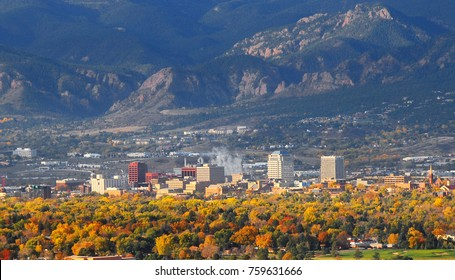 Colorado Springs Downtown as seen from Grandview Lookout in Palmer Park 2