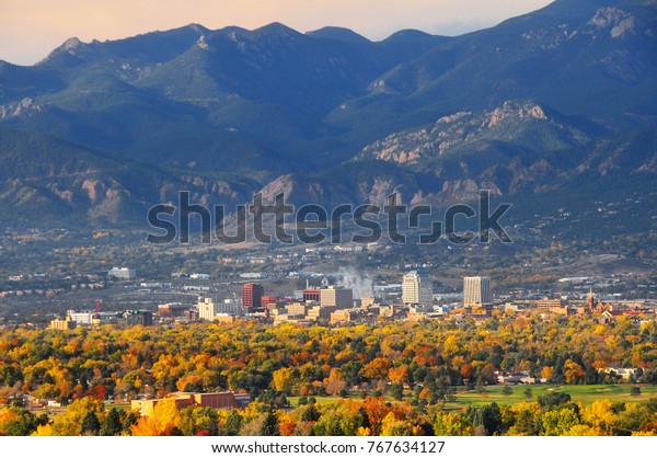 Colorado Springs Downtown as seen from Palmer Park