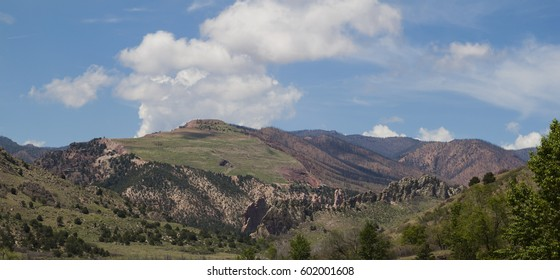 Colorado Springs Garden of the Gods Pikes Peak National Forest Waldo Canyon Scar.