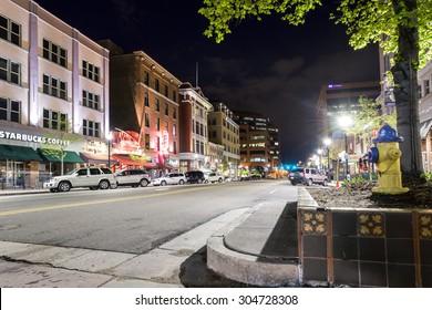 Colorado Springs, Colorado - May 14, 2015: Main street in Colorado Spring, Colorado, USA