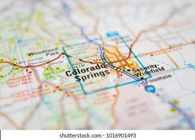 Colorado Springs on USA map