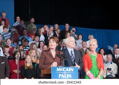 COLORADO SPRINGS - SEPTEMBER 6, 2008: McCain - Palin Presidential rally in Colorado Springs, Colorado, Sept. 6, 2008