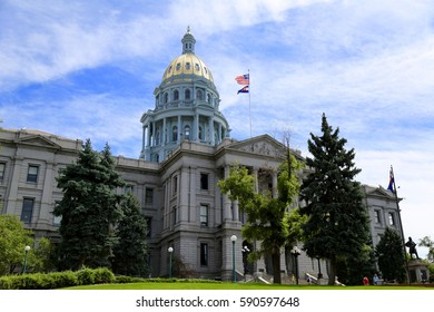 Colorado State Capital Building in Denver Colorado on April 2 2016