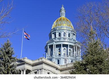 Colorado State Capitol Building, home of the General Assembly, Denver, Colorado. USA
