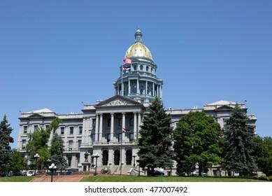 Colorado State Capitol building is located in Denver, Colorado, USA.