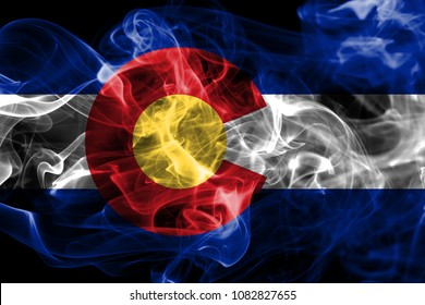 Colorado state smoke flag, United States Of America