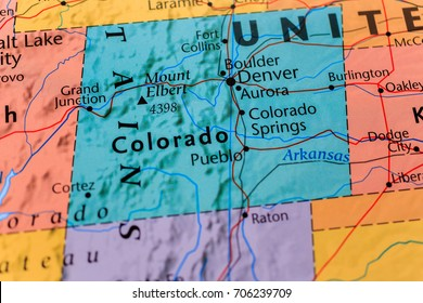 Denver Colorado Map Stock Photos Images Photography Shutterstock