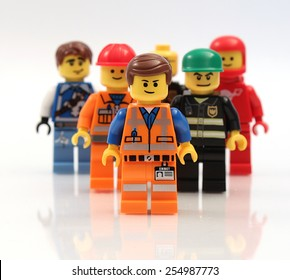 Colorado, USA - Feb. 18, 2015: studio shot of a Lego minifigures. Legos are a popular line of plastic construction toys manufactured by The Lego Group, a privately held company in Denmark.