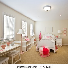 Color-coordinated child's bedroom