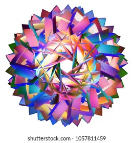 colored 3D hyperbolic tessellation computer generated
