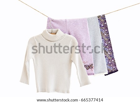 b5e4fc73d Colored Baby Small Leggings Tights Childs Stock Photo (Edit Now ...