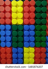 colored background of large Lego
