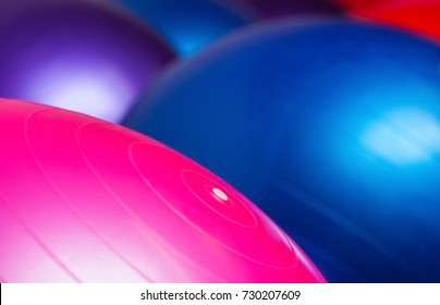 Colored balls for fitness close-up. Sports concept, fat burning and healthy lifestyle.