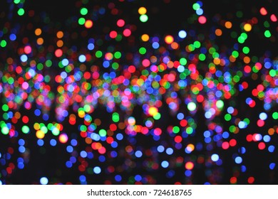 colored blur lights background bokeh