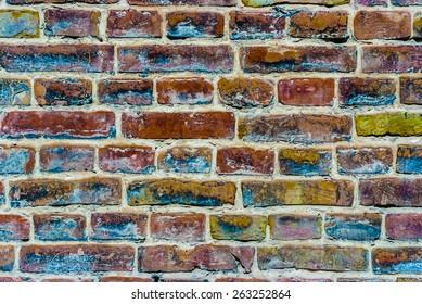 colored brick masonry old brick background