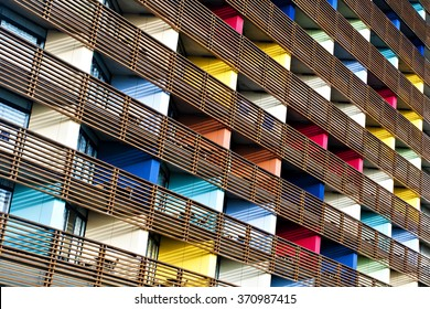 Colored building. Natural Pattern background.