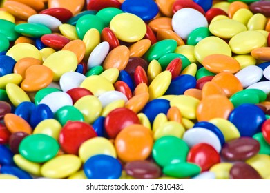 A lot of colored candies