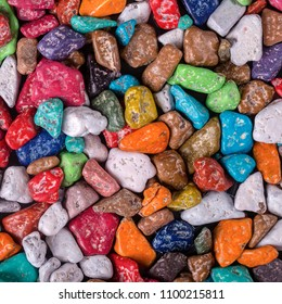 Colored candy made in the form of pebbles sold in the store Sharm el-Sheikh, Egypt. Colorful candies background, close up