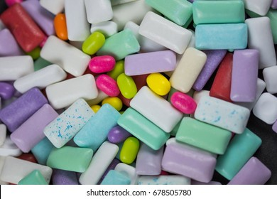 colored Chewing or bubble gum ,