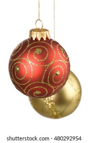 colored Christmas ornament decoration isolated on white