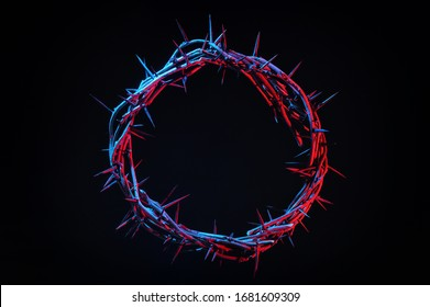 Colored Crown Of Thorns On A Dark Background - Shutterstock ID 1681609309