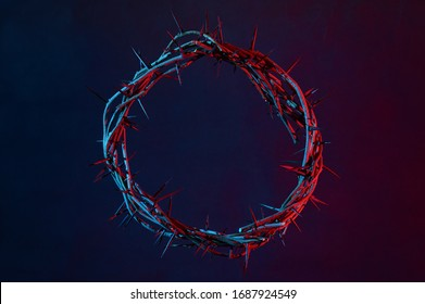 Colored Crown Of Thorns On A Dark Background - Shutterstock ID 1687924549