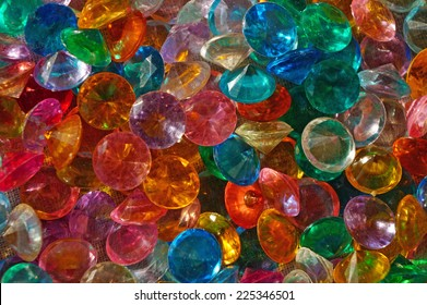 Colored Crystal Rhinestones close up as background