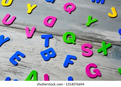 colored cutout plastic letters