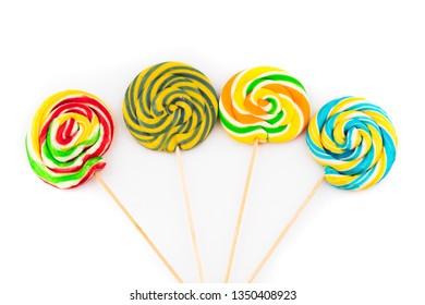 colored delicious lollipop