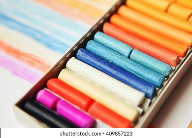 The colored dry pastels.