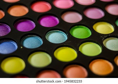 colored eye makeup detail macro