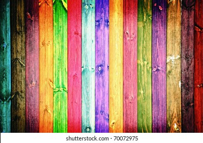 colored fence