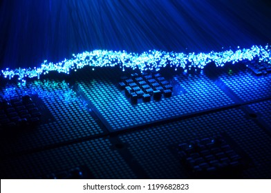 colored fiber optics over CPU Chip Processors