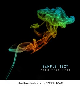 Colored fire and smoke background