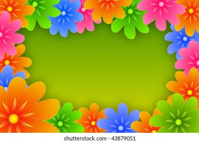 colored flower frame with text field