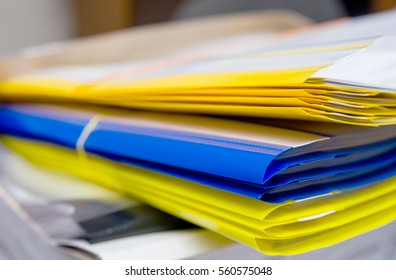 Colored folder in the office