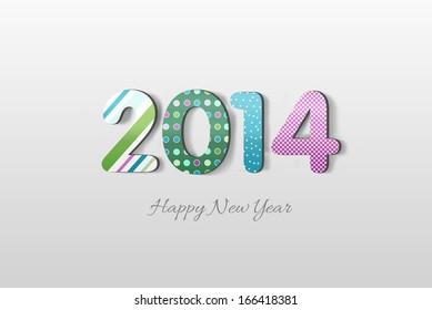 Colored Happy New Year Illustration