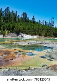 Colored Hot Springs - Yellowstone National Park, USA