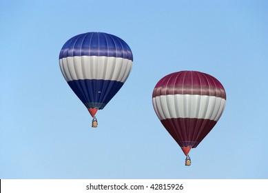 colored hot-air balloon blue sky