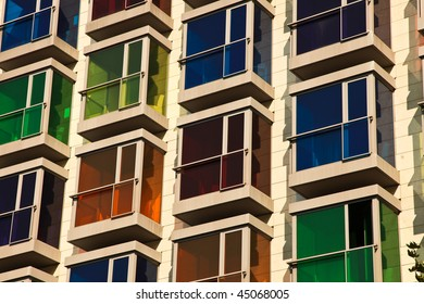 Colored Hotel Windows