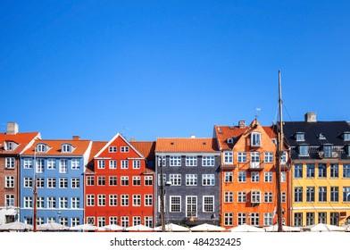 Colored houses, Copenhagen, Denmark