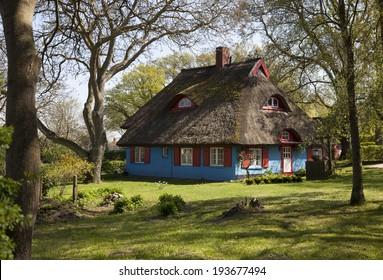 Colored houses Island Ruegen baltic coast, Germany
