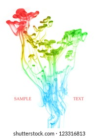 Colored Ink Drops